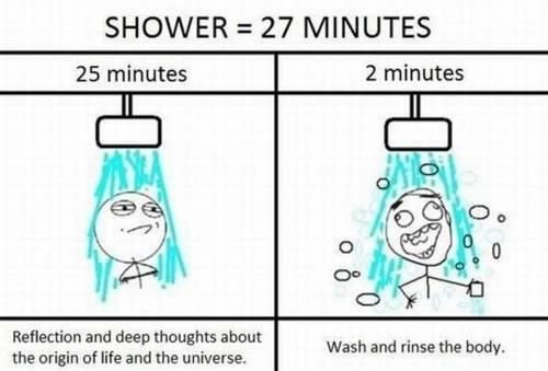 fact.27 Minute, Shower Lol, Deep Thoughts, Alone Time, Yep Pretty, Too Funny, So True, Shower Time, True Stories