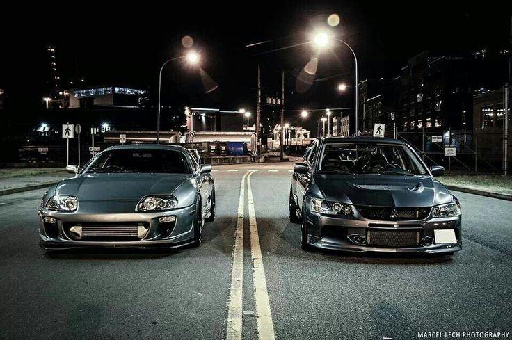 Toyota Supra vs Mitsubishi Lancer Evolution | The Garage ...