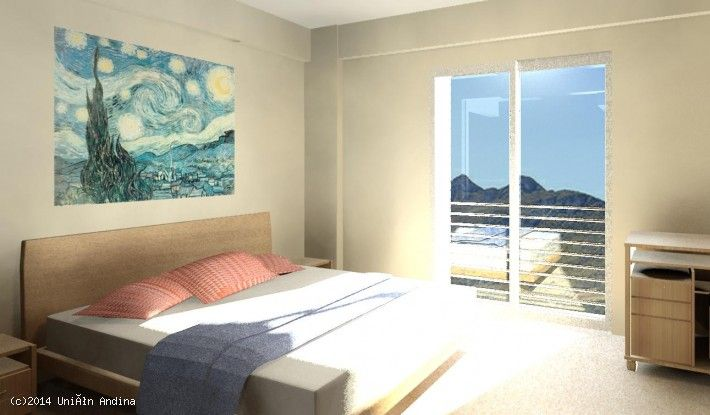 Vivienda en Cochabamba, Bolivia. Promoción Valle Sarco II  Departamentos de 2 y 3 dormitorios con 2 baños. Club-house, áreas verdes y piscina. Parrillero individual para cada departamento.Control acceso peatonal y vehicular. En condominio cerrado. #unionandina