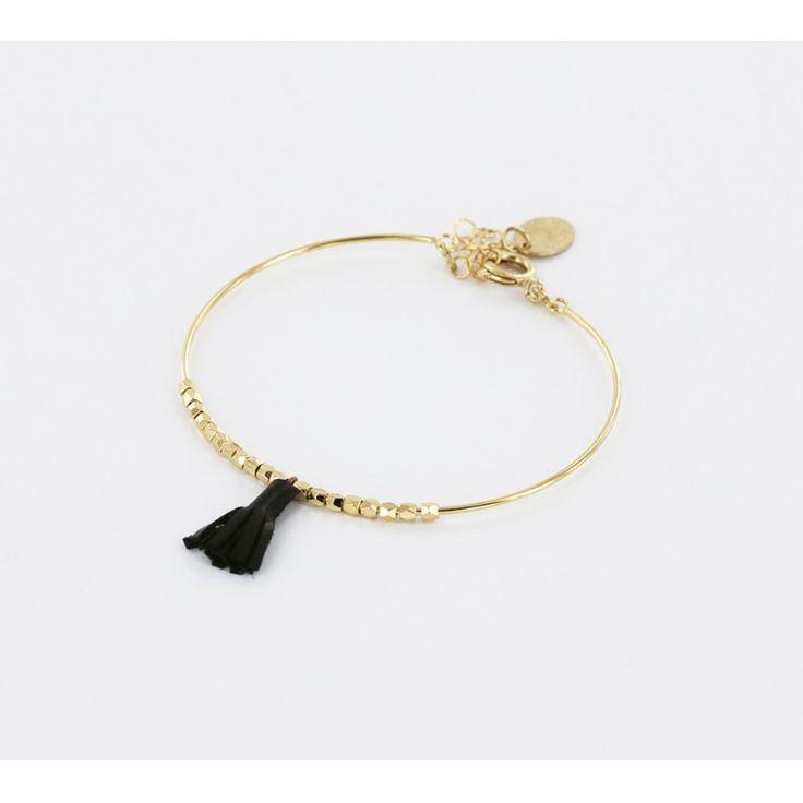 Bracelet jonc June - Noir - Bijoux tendance 2016…