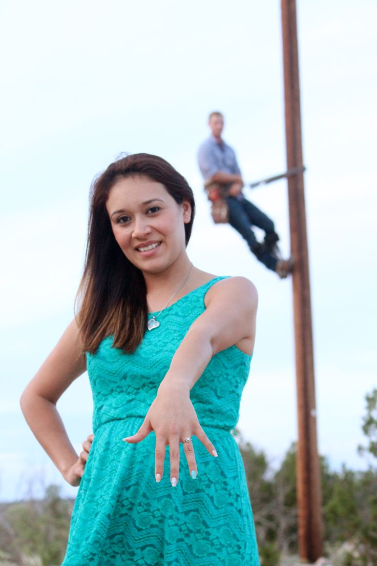 Our Lineman Engagement Pictures! - Love my lineman! - Courtesy of Sweet Moments Photography of Fort Stockton, TX.