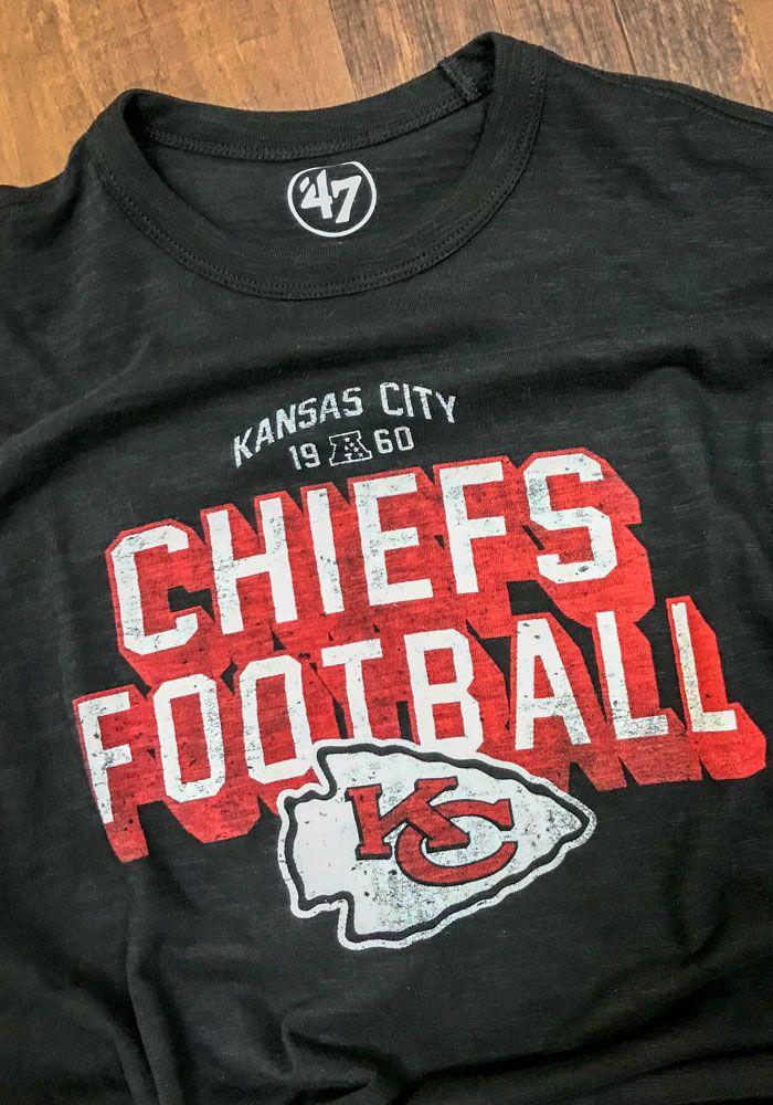 94f741c18 47 Kansas City Chiefs Black Scrum Short Sleeve Fashion T Shirt in ...