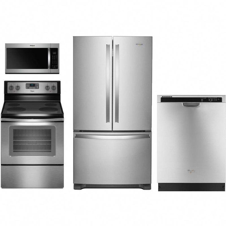 this stainless steel 4 piece kitchen appliance package from rc willey makes it easier than eve on kitchen appliances id=85385