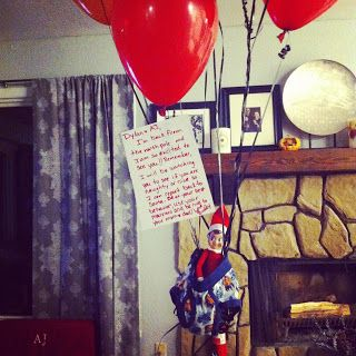 87 best images about elf on the shelf ideas on pinterest for Elf on the shelf balloon ride