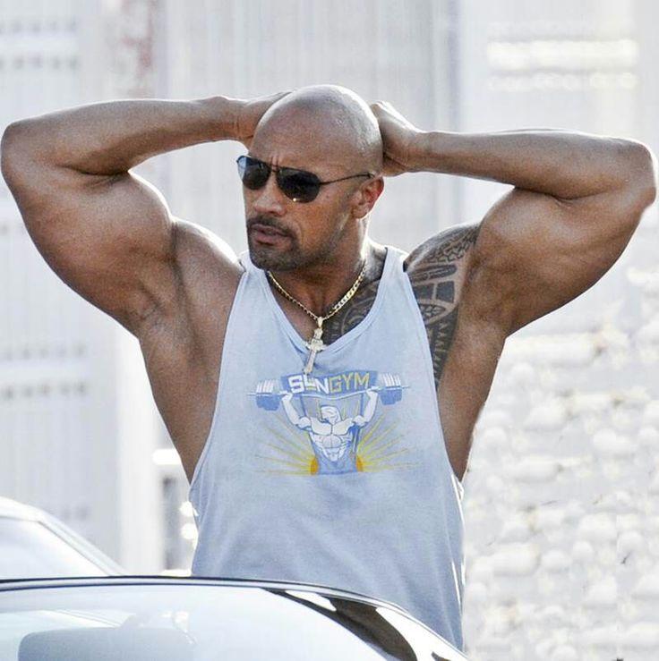 Dwayne johnson topless
