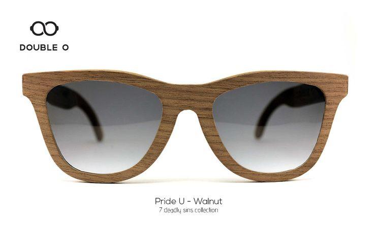 Pride U - Walnut / Handmade Wooden Sunglasses / Made in Crete,Greece