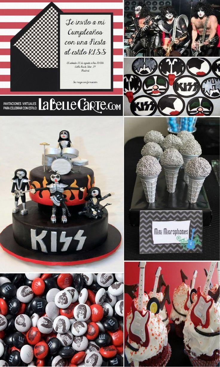 Invitaciones de cumpleaños, Invitaciones para Cumpleaños, Fiesta inspirada en KISS, Cumpleaños grupo KISS, cumpleaños rock and roll Para Más Info Visita: www.LaBelleCarte.com Online birthday invitations, Online birthday cards, birthday ideas, KISS party, KISS rock party, KISS rock party theme, KISS birthday For More Info Visit: www.LaBelleCarte.com/en