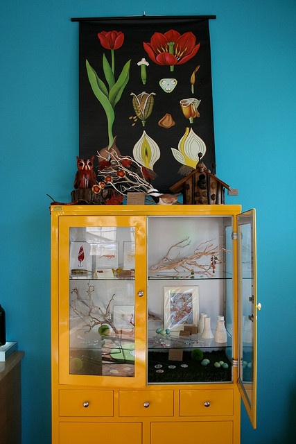 Have the cabinet in metal, want to paint it...too much color?