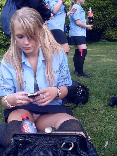 Upskirt in school