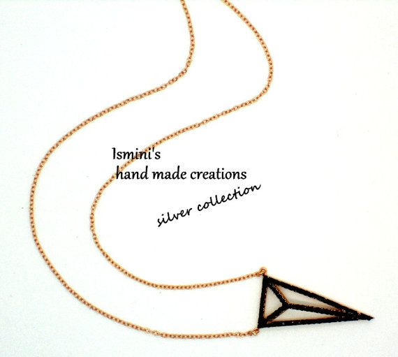 Handmade silver 925 necklace pink gold plated by IsminisHeartmade