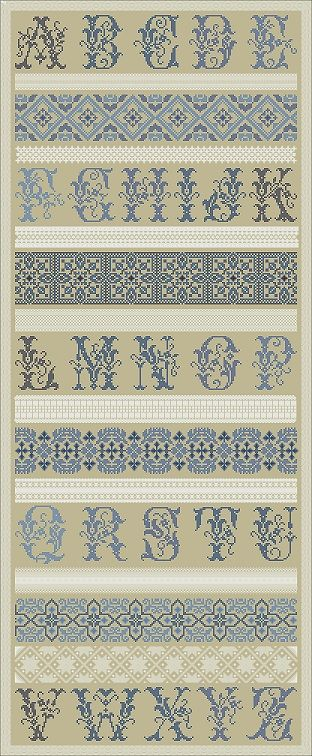 Blue and White on linen - love the combination Northern Expressions Needlework