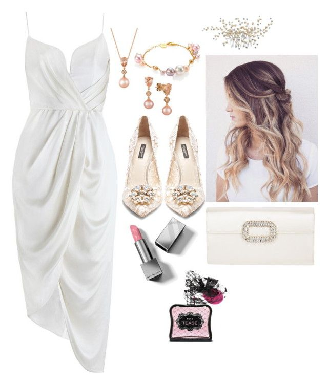 """""""Party"""" by pitaa29 on Polyvore featuring Zimmermann, Dolce&Gabbana, Roger Vivier, LE VIAN, Majorica, Victoria's Secret and Burberry"""