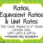 A set of 20 task cards to give your students fun practice with ratios, unit rates, and equivalent ratios.  Questions vary from writing ratios in ra...
