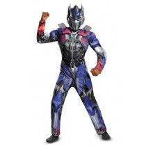 Disguise Hasbro Transformers Age of Extinction Movie Optimus Prime Classic Muscle Boys Costume