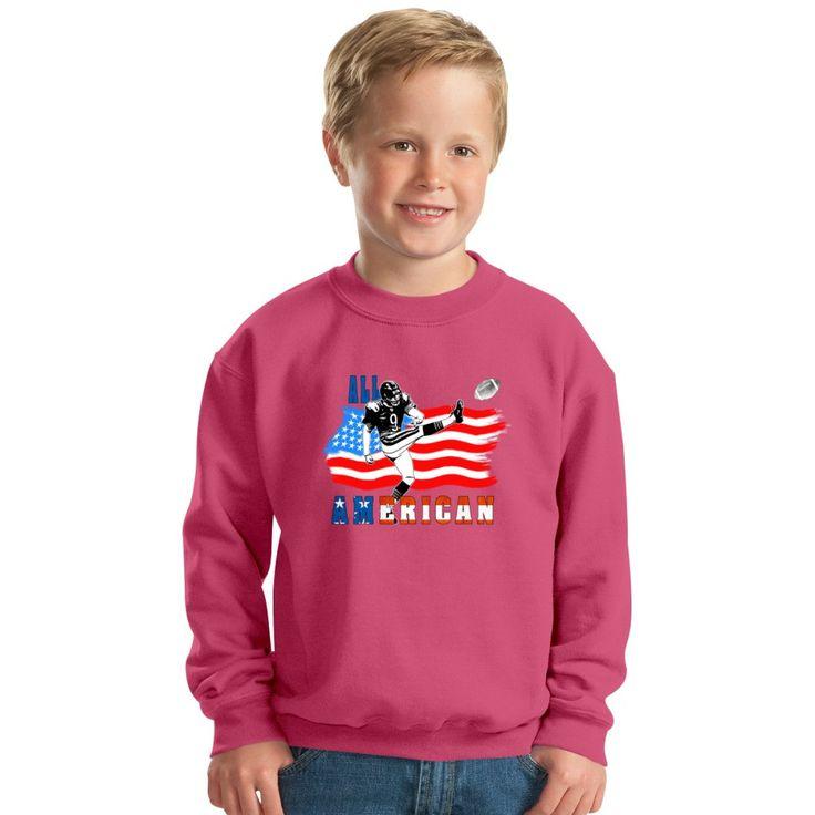 All American Football Field Goal Kicker Kids Sweatshirt