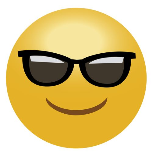 Cool emoji emoticon png