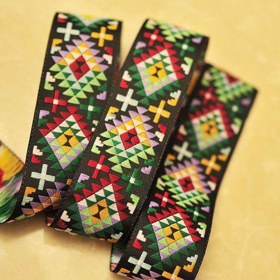 NEWJacquard Ribbon Trim Ethnic Inspired Repeating by Nineheads, $4.40