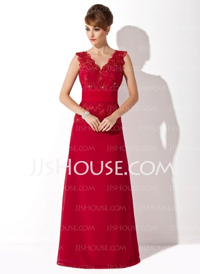 Mother of the Bride Dresses - $138.99 - A-Line/Princess V-neck Floor-Length Chiffon Tulle Charmeuse Mother of the Bride Dress With Ruffle Lace Beading Sequins (008006124) http://jjshouse.com/A-Line-Princess-V-Neck-Floor-Length-Chiffon-Tulle-Charmeuse-Mother-Of-The-Bride-Dress-With-Ruffle-Lace-Beading-Sequins-008006124-g6124