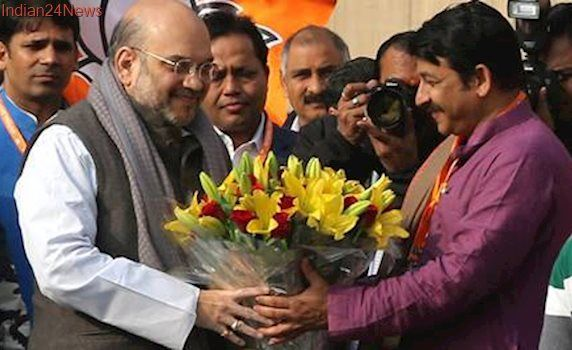 Amit Shah addresses office-bearers ahead of National Executive meet