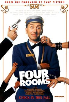 """Four Rooms (1995)  Each of the 4 segments  was directed by a diff. Director. The 4th  segment was  directed by Quinton Tarantino and was based on """"Alfred Hitchcock Presents""""  episode """" Man fronm The South"""""""