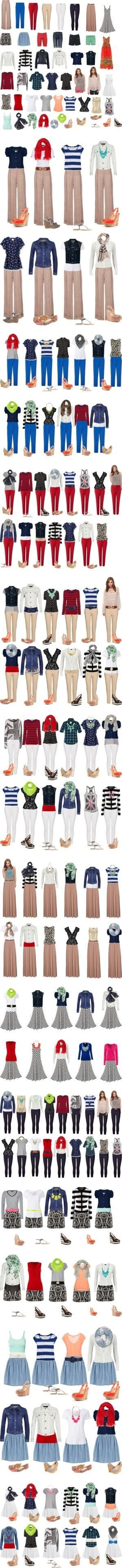"""Capsule Wardrobe -- Spring & Summer"" by cocogolightly on Polyvore by Miss shell"