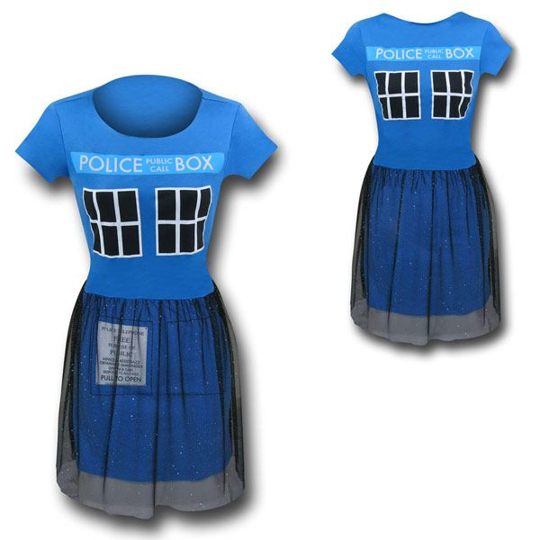 Doctor Who Tardis Ballerina Dress Just more Dr. Who stuff I want