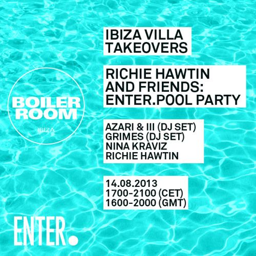 Richie Hawtin 1 hour & 45 min Boiler Room Ibiza Villa Takeover: Enter.Pool Party Mix  #EDM #Music  Join us and SUBMIT your Music  https://playthemove.com/SignUp