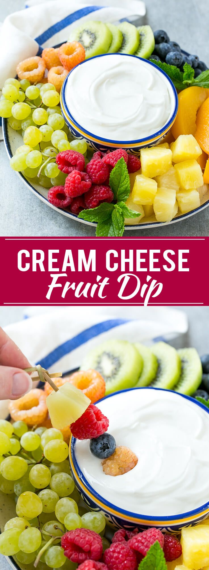 Cream Cheese Fruit Dip | Fruit Recipe | Fruit Dip | Healthy Snack Recipe