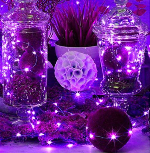 LED-SopoTek-7ft-20-LEDS-Purple-Starry-Lights-Fairy-Lights-Silver-LED-Lights-AA