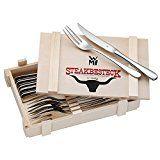 WMF Steakbesteck 12-teilig für 6 Personen in Holzkiste Cromargan Edelstahl rostfrei18/10 poliert