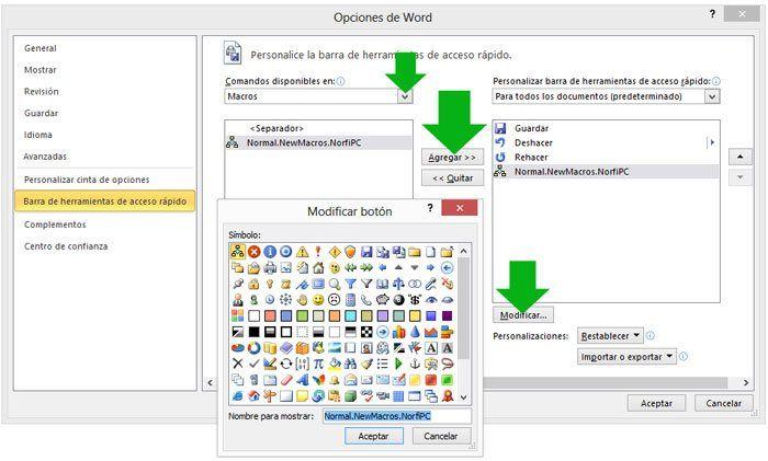 Como Crear Y Grabar Macros En Word Y Excel Ejemplos Prácticos Macros Barra De Herramientas Informática