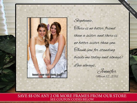 Wedding Gift Ideas From Maid Of Honor: Best 25+ Sister Wedding Gifts Ideas On Pinterest