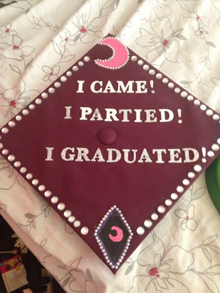 Asu grad cap: Funniest Grad, Senior Year Graduation, Graduation Caps, Cap Ideas, Asu Grad, Caps Isu, Hilarious Cap