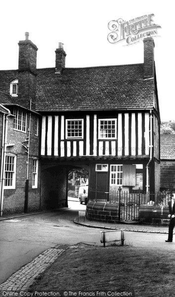 The Tudor Gatehouse, Castle Street, Leicester, c1955. Francis Frith.