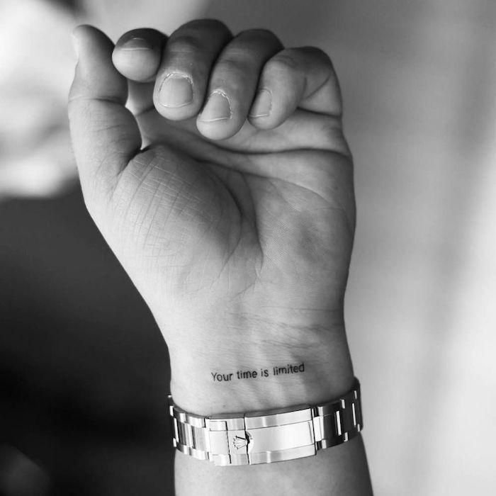 Discrete man tattoo – happy tattoo, hidden tattoo
