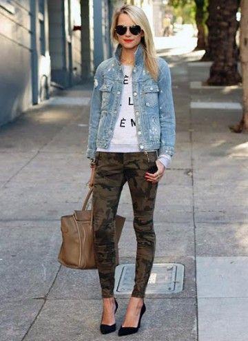 デニムジャケットと迷彩パンツでスタイリッシュに♡デニムジャケットのトレンド♡人気・おすすめのレディース一覧まとめ♡