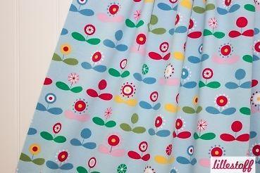 Lillestoff Starflower Summer Blumen  Punkte BIO Jersey Meterware ab 25cm x 152cm