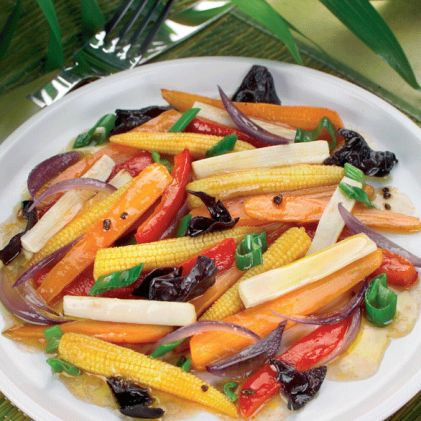 Jardinière of mixed vegetables by ActiFry