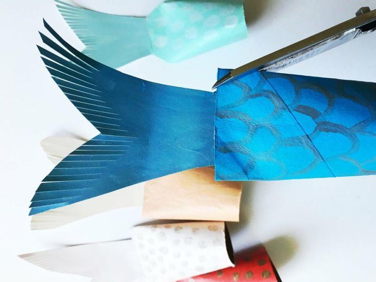 1234 best basteln mit kindern images on pinterest - Fische basteln aus papier ...