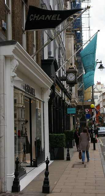 Old Bond Street, London rich people shopping. I think Alexander McQueen and Stella McCartney boutiques...