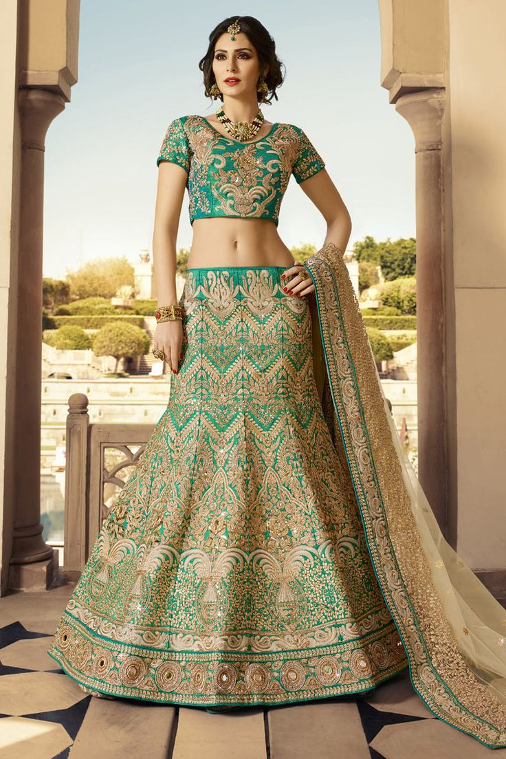 #StyleOfTheDay Buy This Green Pure Raw Silk Heavy Embroidery Work #Designer #BridalLehengaCholi. Buy Now:- http://www.lalgulal.com/lehenga-choli/green-pure-raw-silk-heavy-embroidery-work-designer-bridal-lehenga-choli-695 #CashOnDelivery & #FreeShipping only in India. For Other Query Just Whatsapp Us on +91-9512150402 Or Mail Us at info@lalgulal.com.