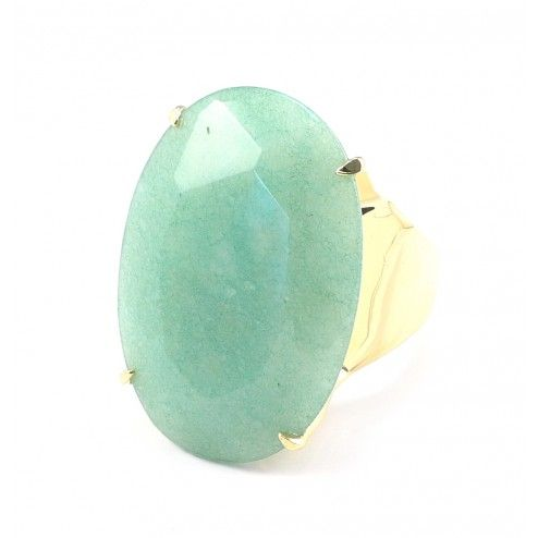 Lola Rose Boutique Tahoe Capri Green Quartzite Ring