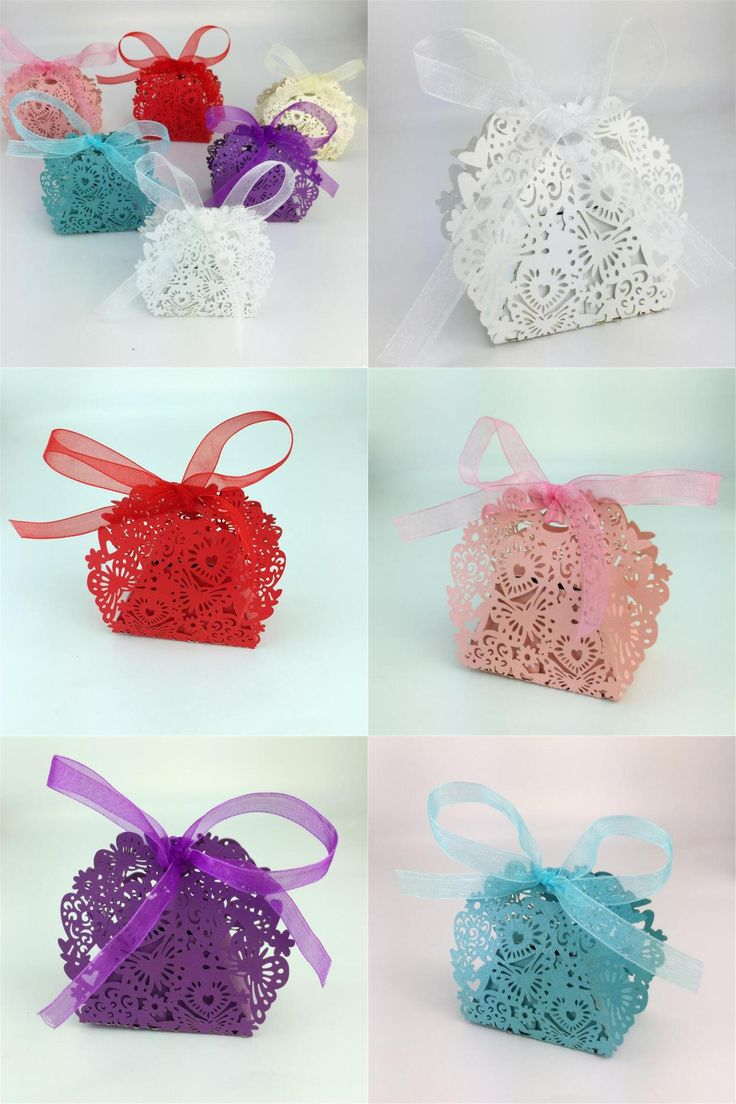 [Visit to Buy] 20pcs/set Romantic Wedding favors Decor Butterfly  Candy Gift Boxes Wedding Party Candy Box with Ribbon New C0 #Advertisement