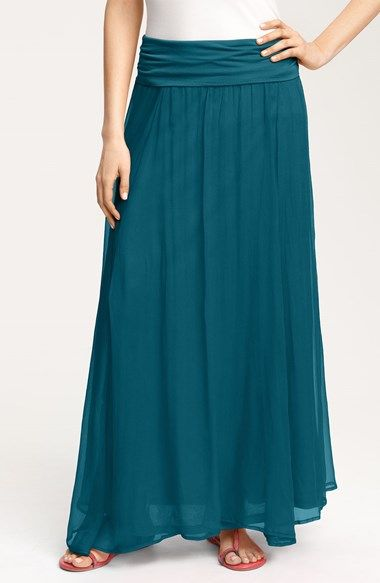 Max & Mia Crinkled Maxi Skirt (Regular & Petite) available at #Nordstrom  Big Mama...I bought this skirt last spring and have worn it so many times since then. And now they're offering it in a few new colors. Even better, it's on sale for $46.80.
