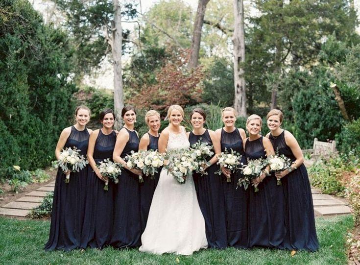 40+ Beautiful Black Bridesmaid Dress Styles For Perfect Wedding Ideas