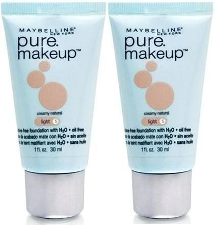 Maybelline Pure Makeup Foundation LIGHT 5 CREAMY NATURAL (Qty, of 2 Tubes)DISCOUNTINUED ** You can get additional details at the image link.