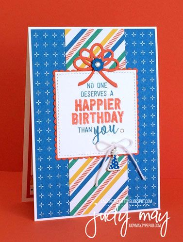 Stampin' Up! Balloon Adventures & Party Animal for CASE-ing the Catty - Judy May, Just Judy Designs