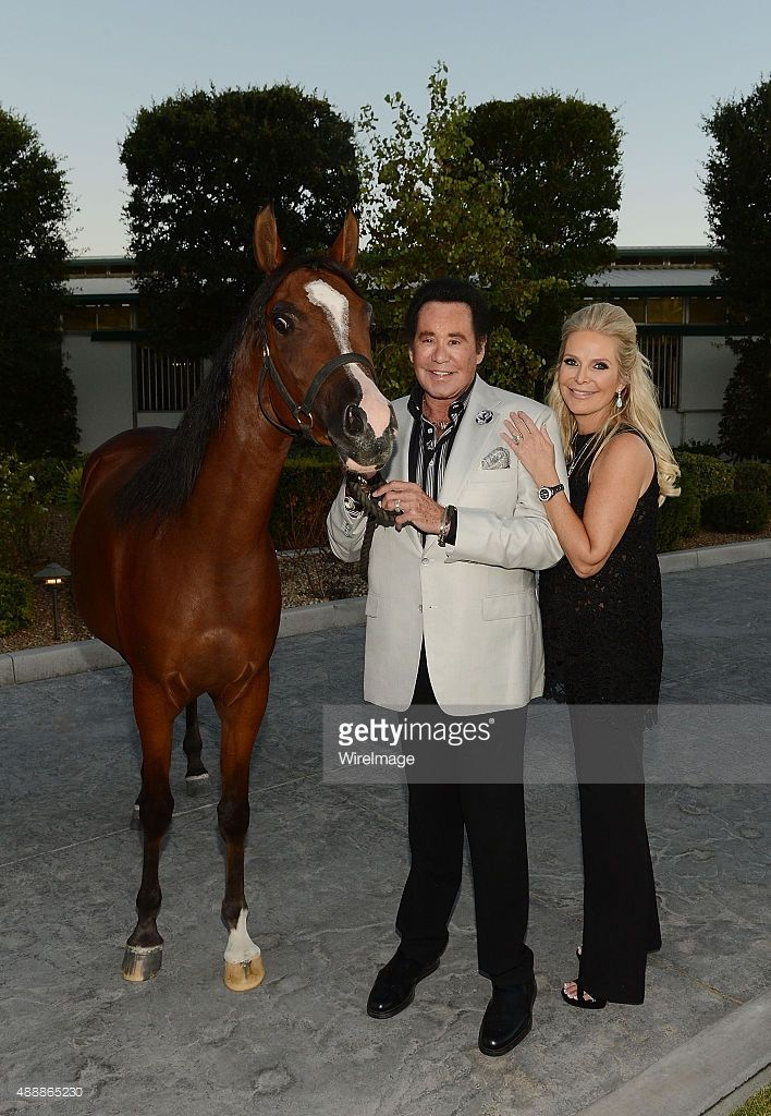Wayne Newton and his wife Kathleen McCrone Newton attend the VIP opening of Casa De Shenandoah on September 17, 2015 in Las Vegas, Nevada.