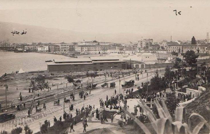 Bahribaba Parkı'ndan Konak'a bakış.  Şimdiki Atatürk Kültür Merkezi karşısından.