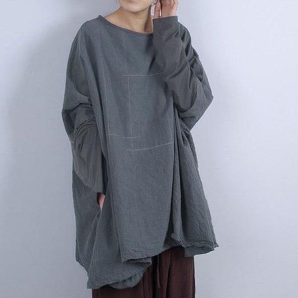 Women Casual Loose Cotton Linen Shirt
